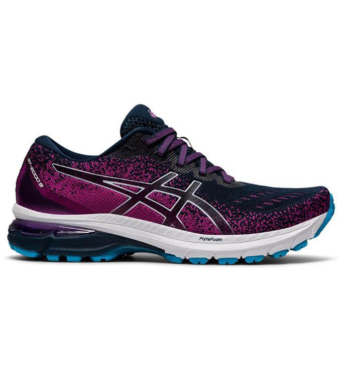 Paarse dames schoenen Asics GT-2000 9 Knit - 1012A867 400