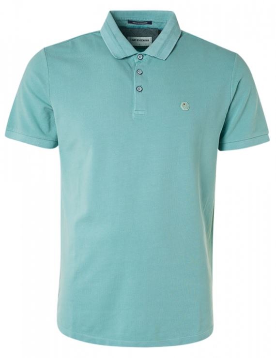 Blauwe heren polo No Excess - 11370101SN-153