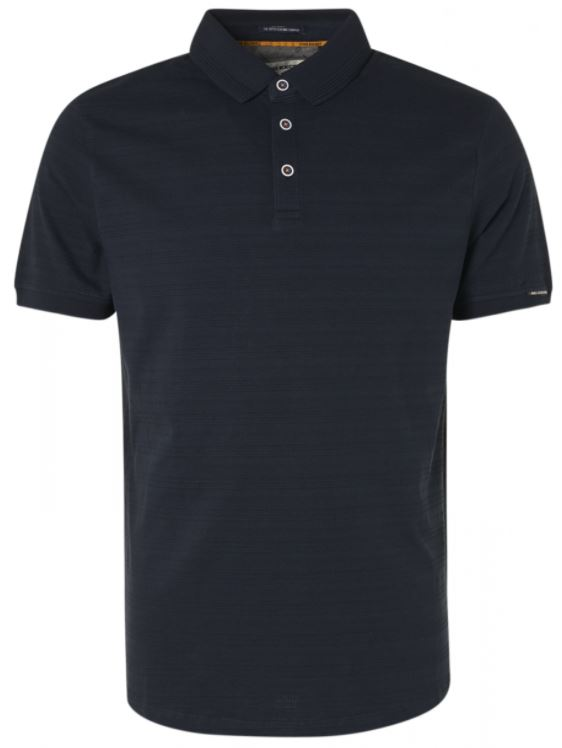 Donkerblauwe heren polo No Excess - 11370214-078