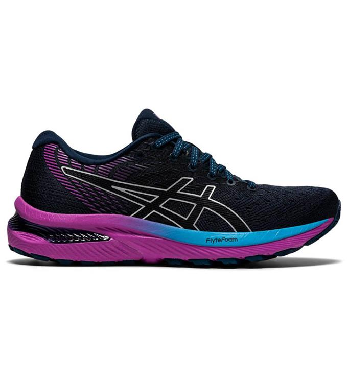 Blauw/Paarse dames schoenen Asics Gel-Cumulus 22 - 1012A741-403