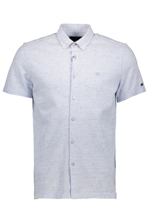 Wit heren overhemd met korte mouwen Vanguard - VSIS212226-5300