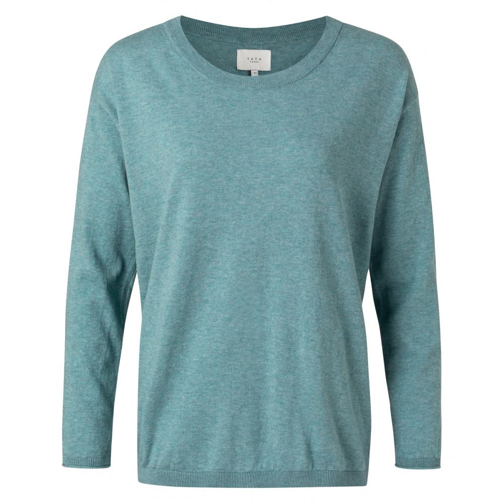 Blauwe dames trui YAYA - 1000217-112