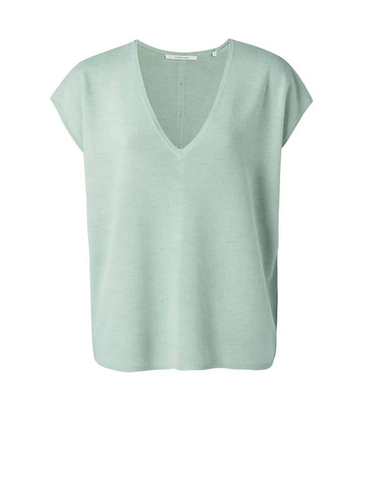 Blauwe dames trui met knopen YAYA - 1000420-113