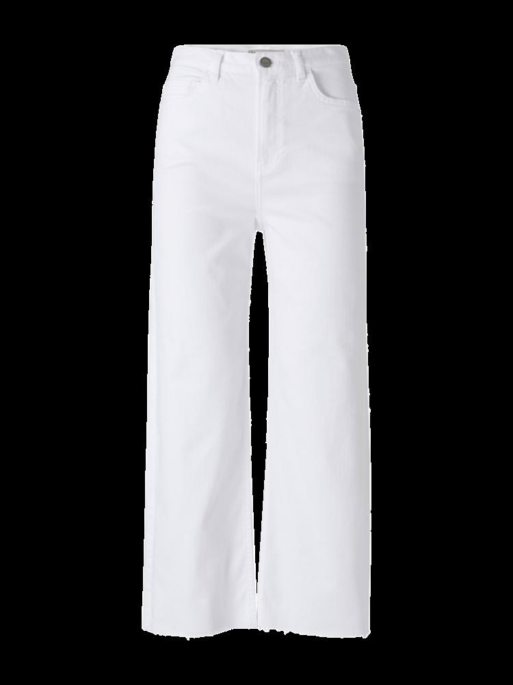 Witte dames flare broek YAYA - 1201137-113