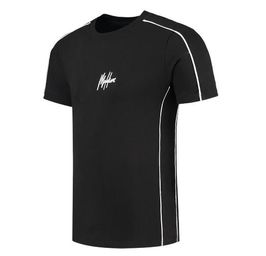 Zwart heren t-shirt Malelions - Thies 2.0 tee 904