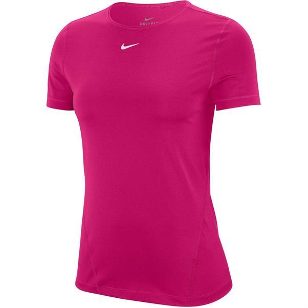 Roze dames t-shirt Nike Pro SS - AO9951-615