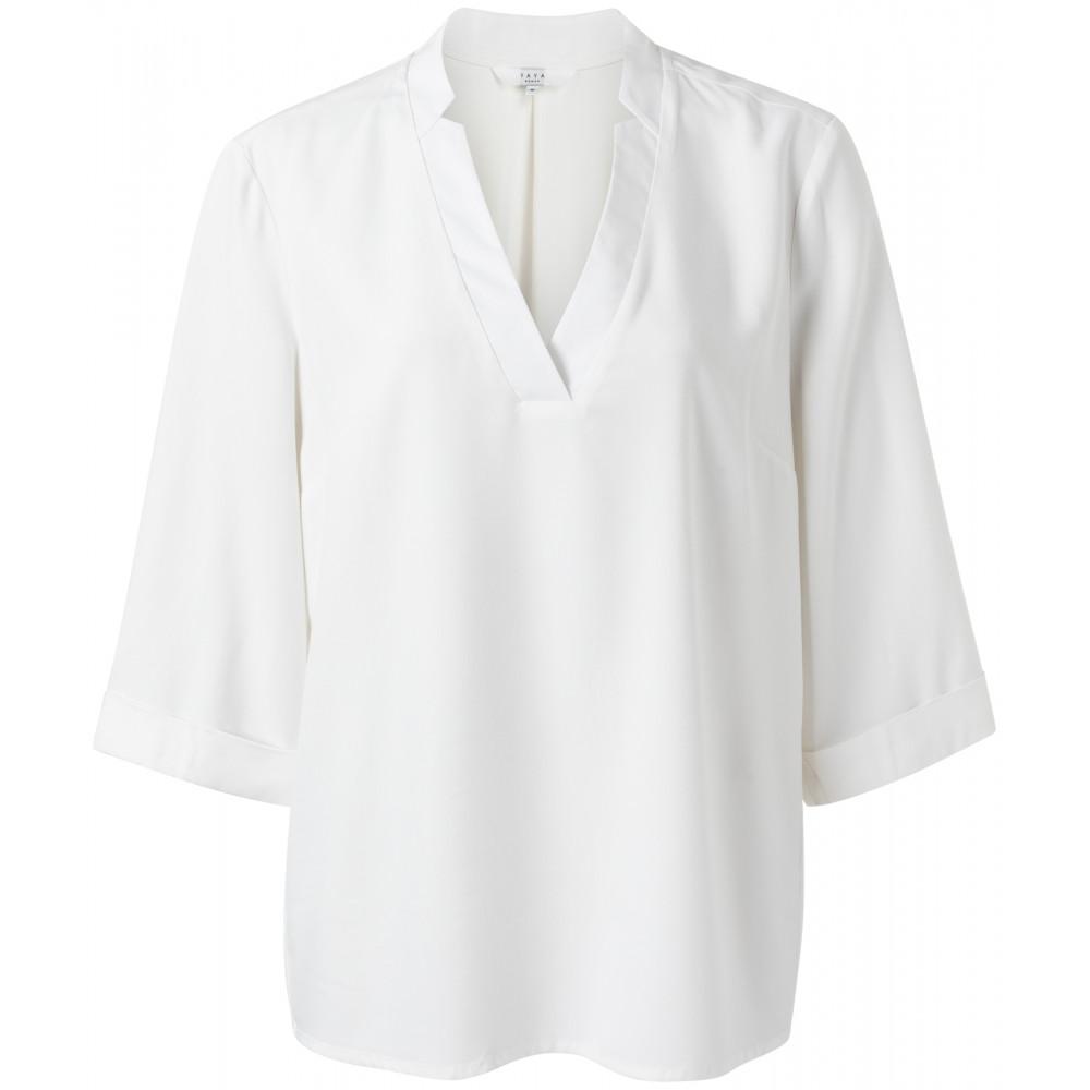 Witte dames blouse met v-hals YAYA -1901245-112