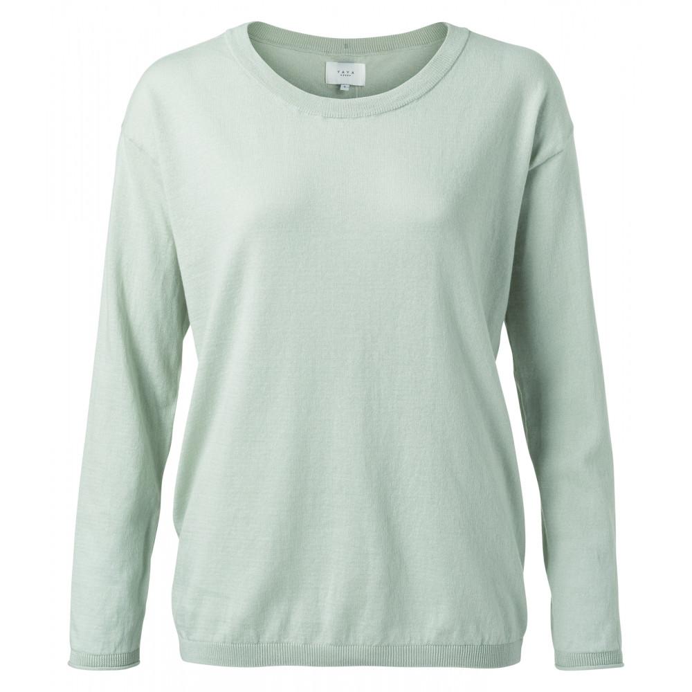 Lichtblauw dames vest met knopen YAYA - 1000217-113