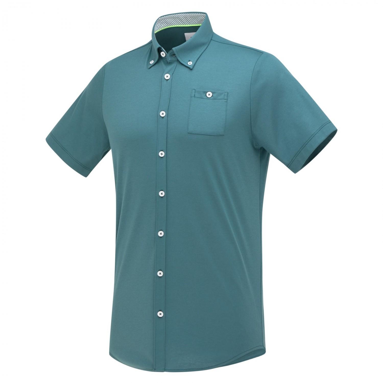 Groen heren overhemd met kort mouw Blue Industry - 2363.11