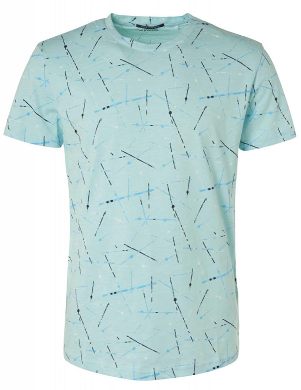 Lichtblauw heren t-shirt No Excess - 96340506-134