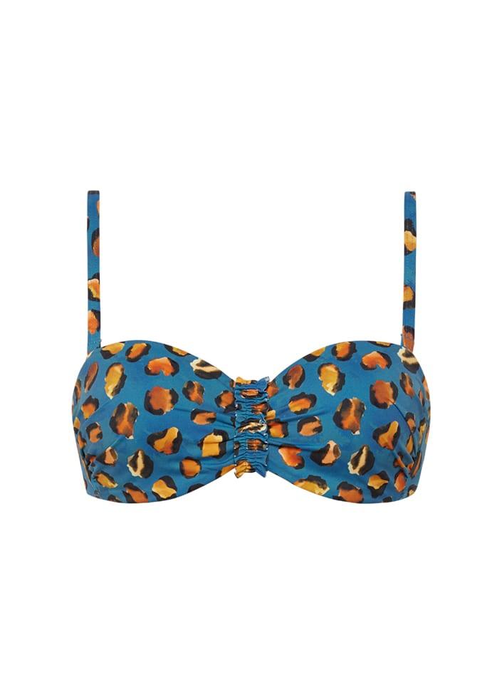 Blauwe bikini top met print Cyell - 110117-158