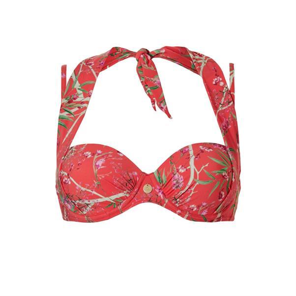 Oranje bikini top met print Tc WoW - 20217-2196
