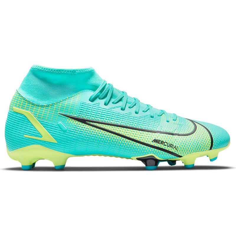 Blauw/groene voetbalschoenen Nike Mercurial Superfly 8 - CV0843-403
