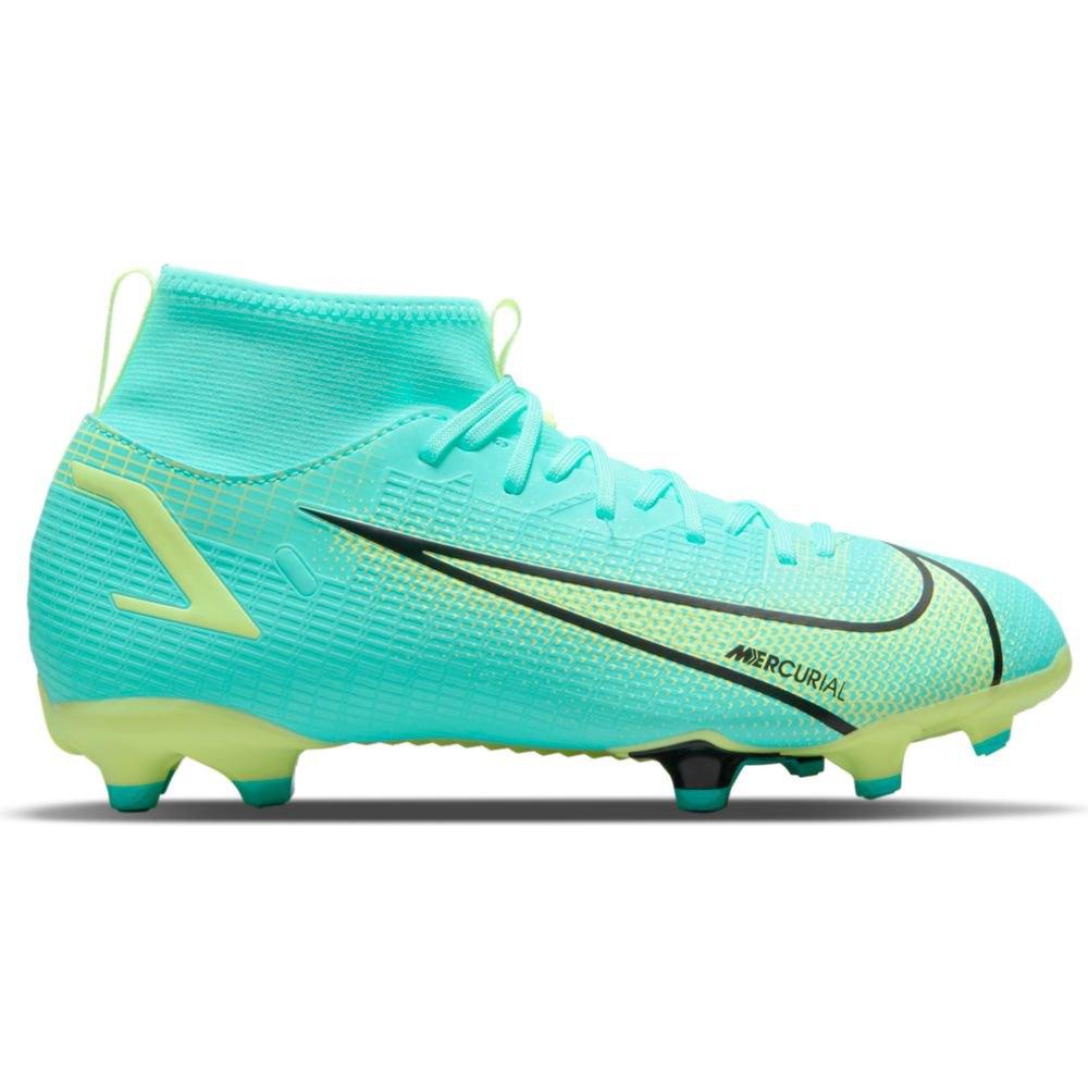 Blauw/groene kinder voetbalschoenen Nike JR Mercurial Superfly 8 - CV1127-403