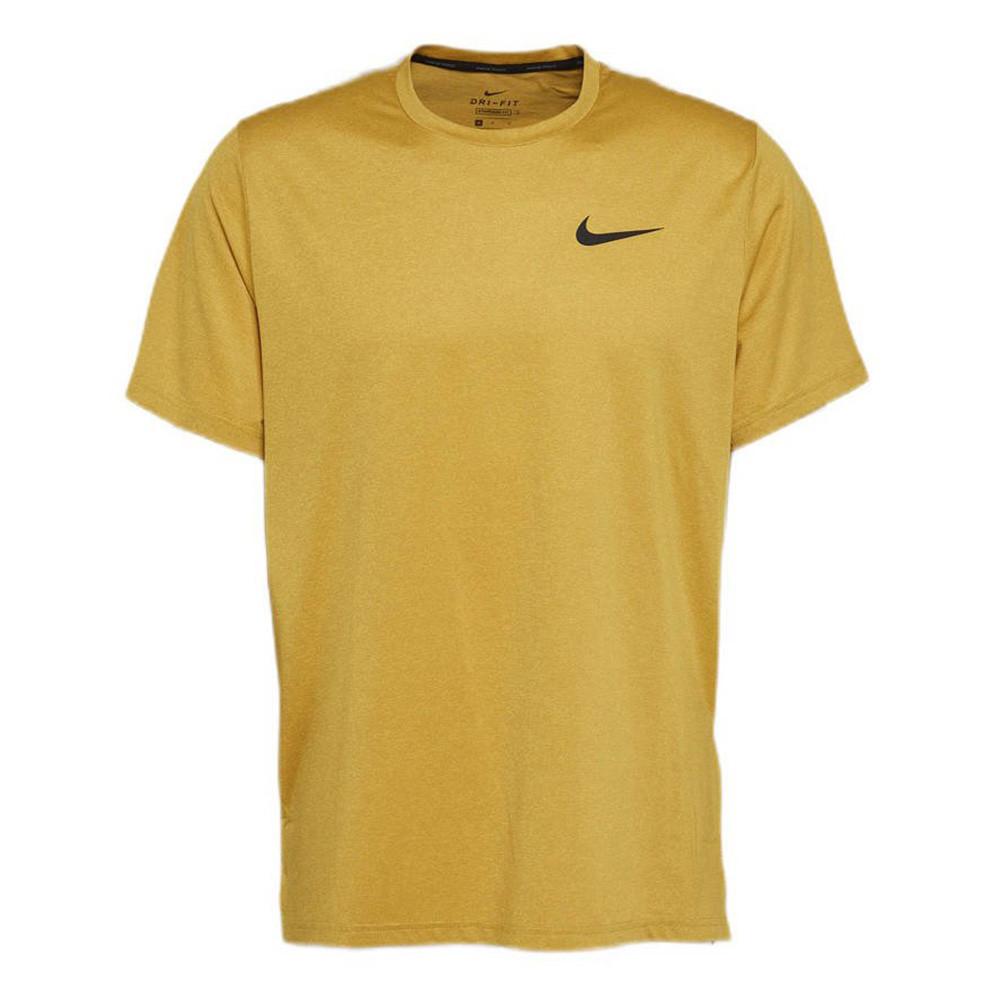 Geel heren t-shirt Nike Pro Drifit - CZ1181-790