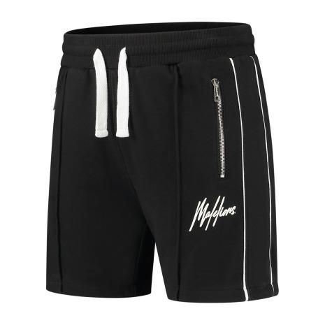Zwart heren broekje Malelions Thies Short 2.0