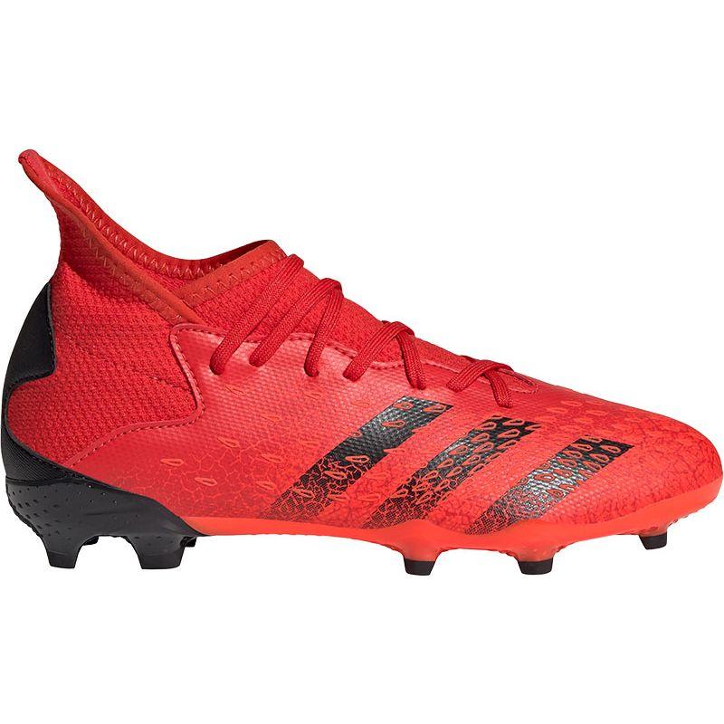 Rode kinder voetbalschoenen Adidas Predator Freak.3 FG J - FY6282-000