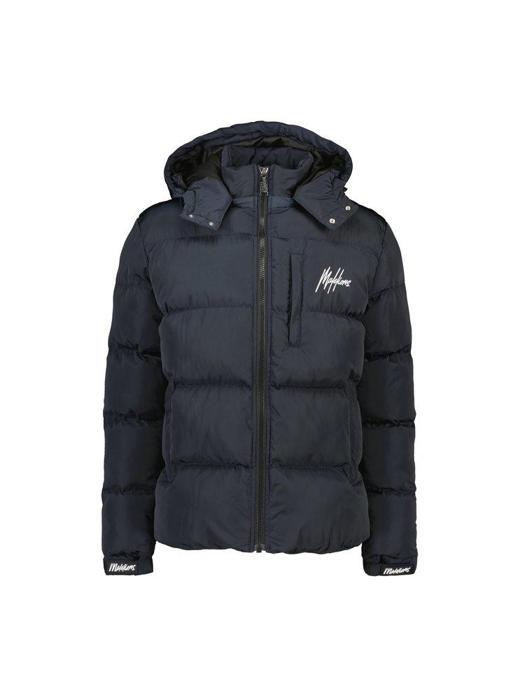 Donkerblauwe jas Malelions - Astro Puffer 314