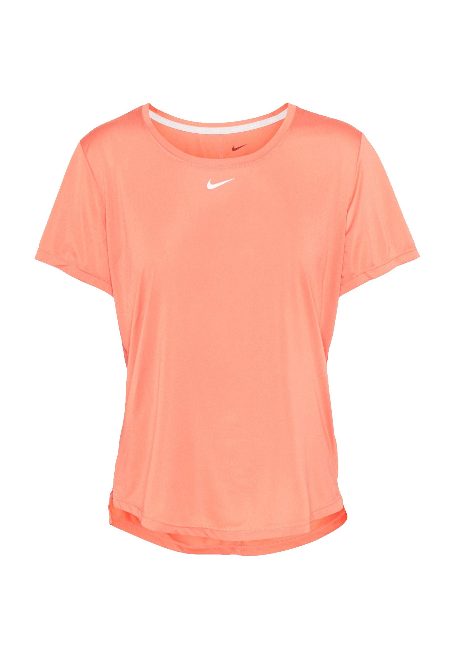 Roze/Oranje dames t-shirt Nike Dri-Fit One - DD0638-814
