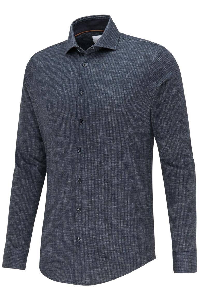 Blauw heren overhemd Blue Industry - 2419.22 navy