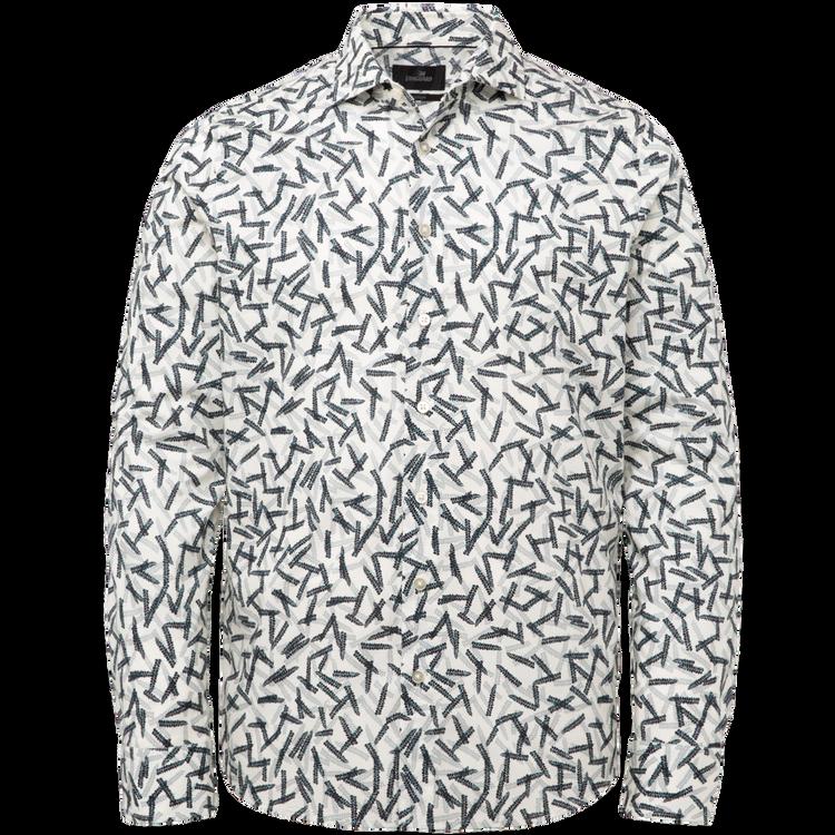 Wit heren overhemd met print Vanguard - VSI215204-7011