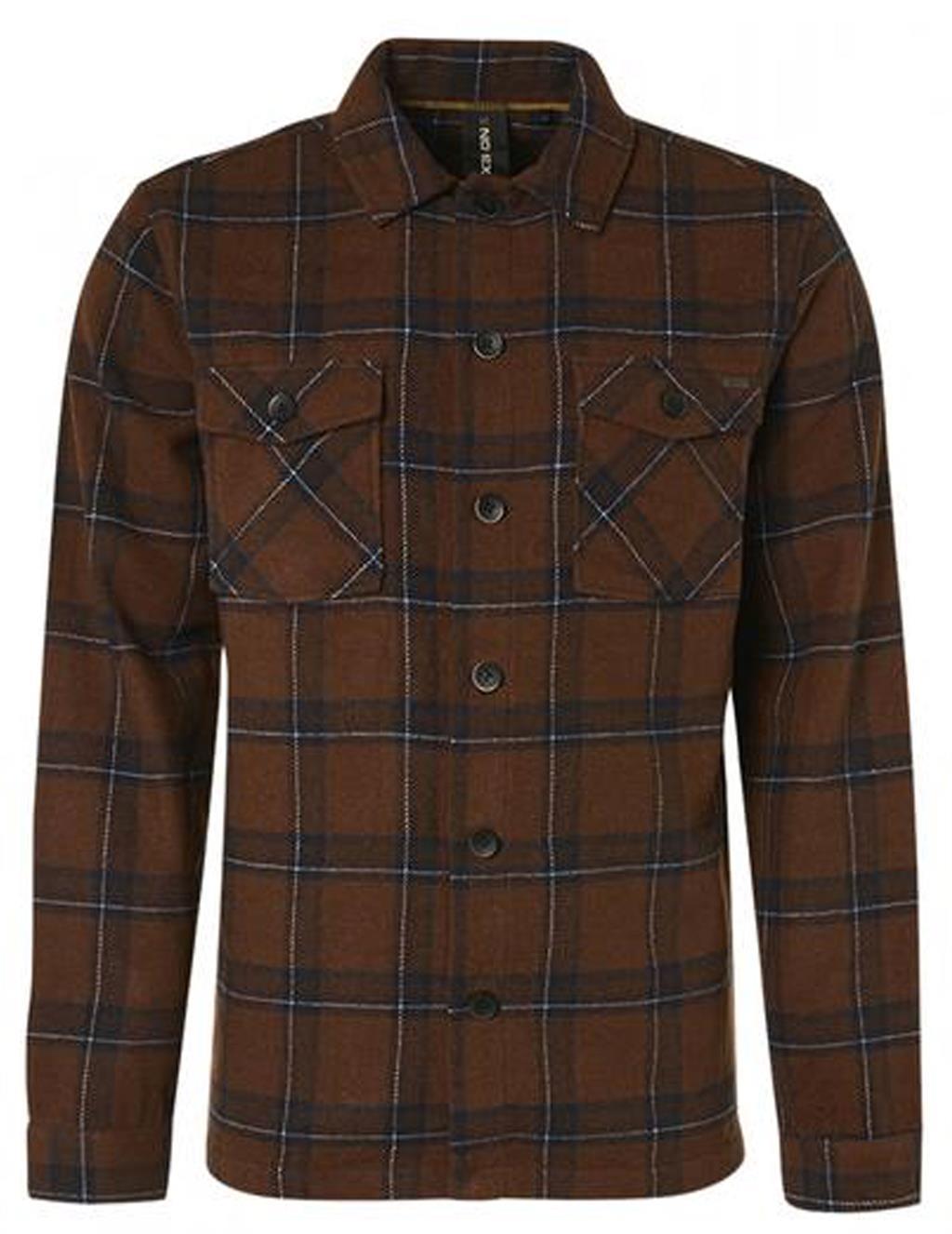 Bruin heren overshirt No Excess - 12410812-140