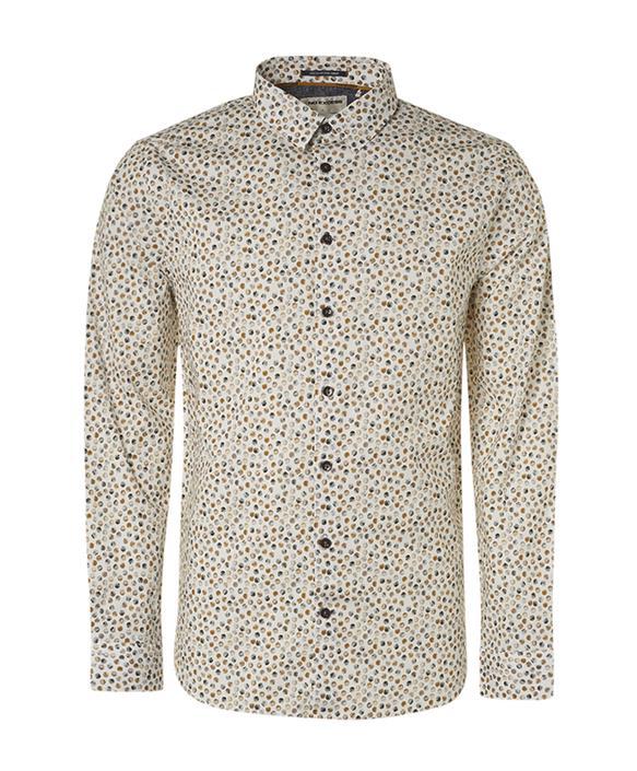 Wit heren overhemd met allover print No Excess - 12410816-189