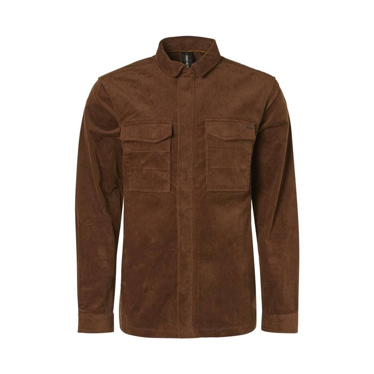 Bruine heren overshirt No Excess - 12410807-149