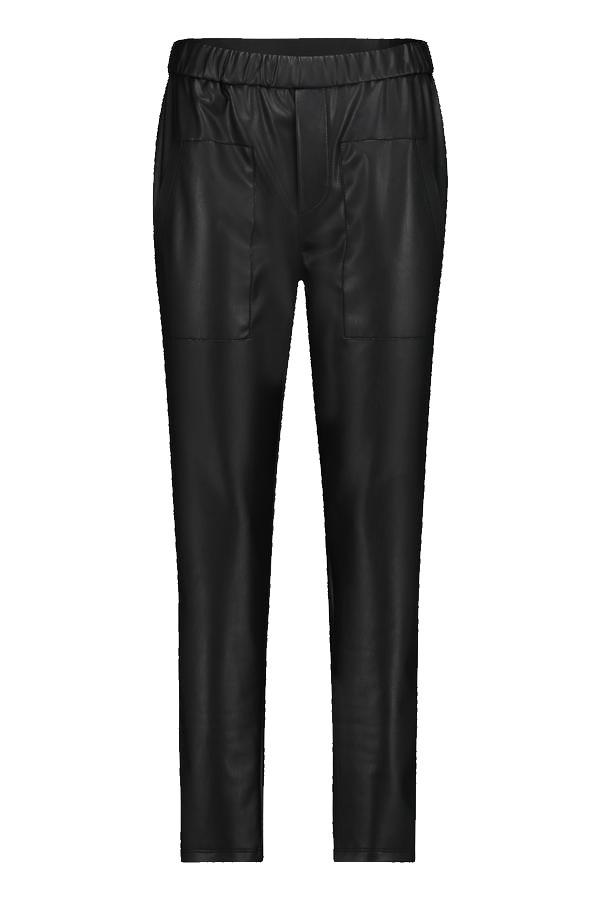 Zwarte leren broek Penn&Ink - W21N1020 90 black