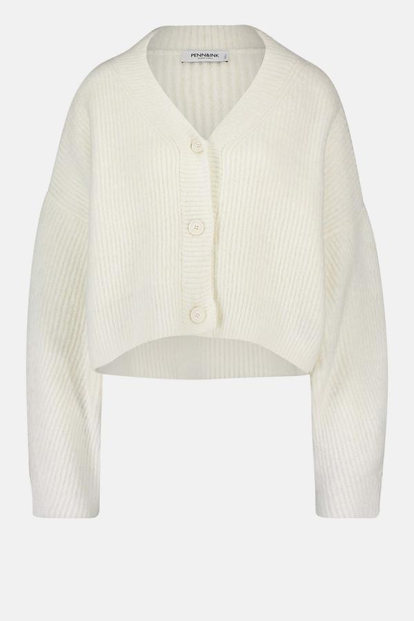 Witte dames vest Penn&Ink - W21L144 110 ivory