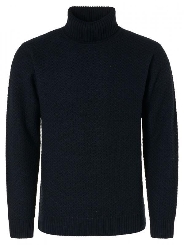 Donkerblauwe heren trui No Excess - 12210928-078