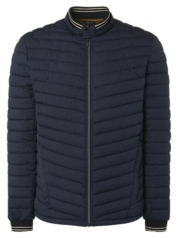 Donkerblauwe heren jas No Excess - 12630703SN 078