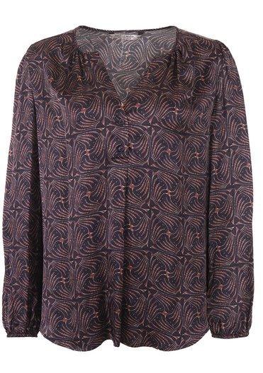 Donkerblauwe dames blouse Summum - 2S2654 120