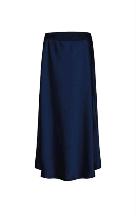 Donkerblauw satijnen rok Summum - 6S1209-496