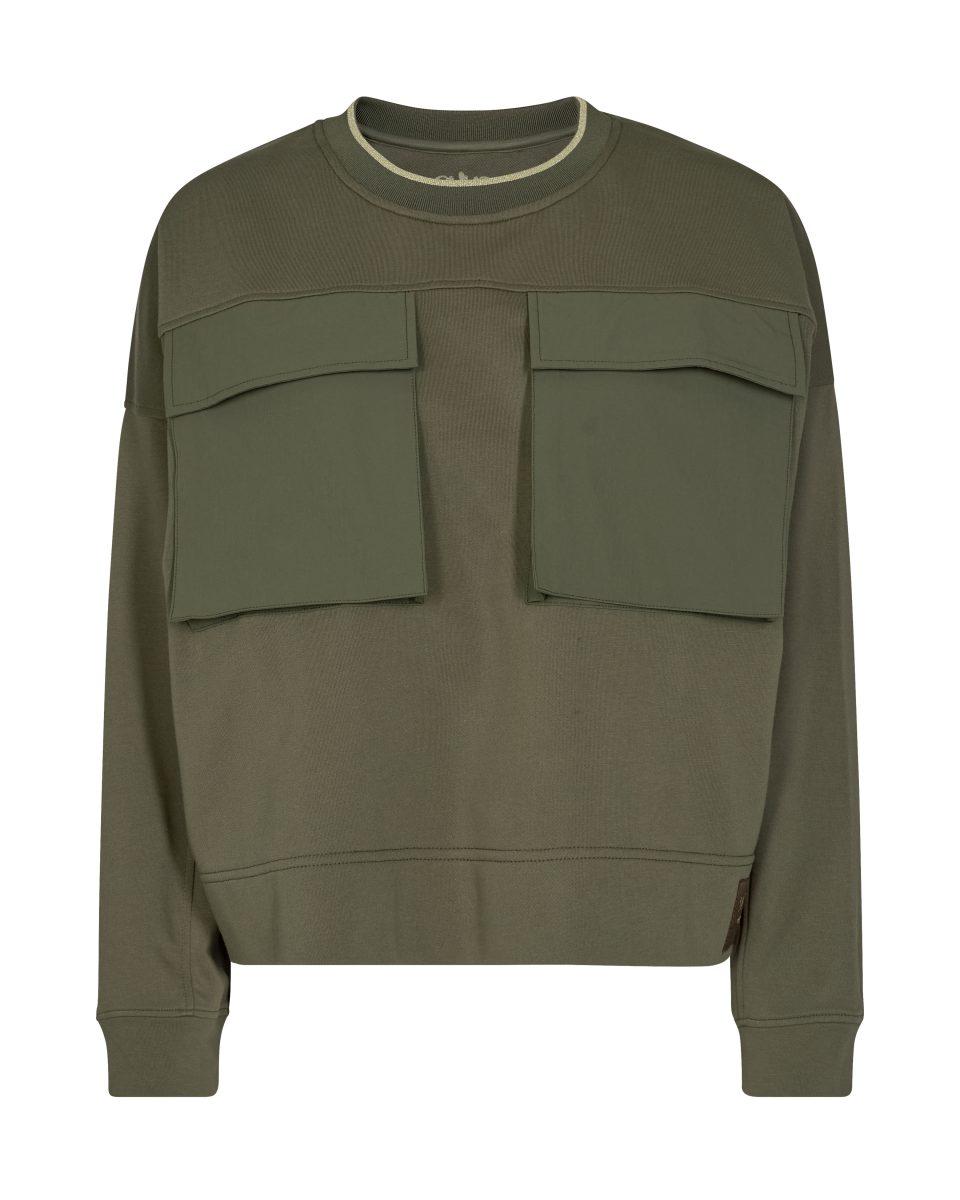 Groene dames sweater Mos Mosh - Ulrica 139480-507