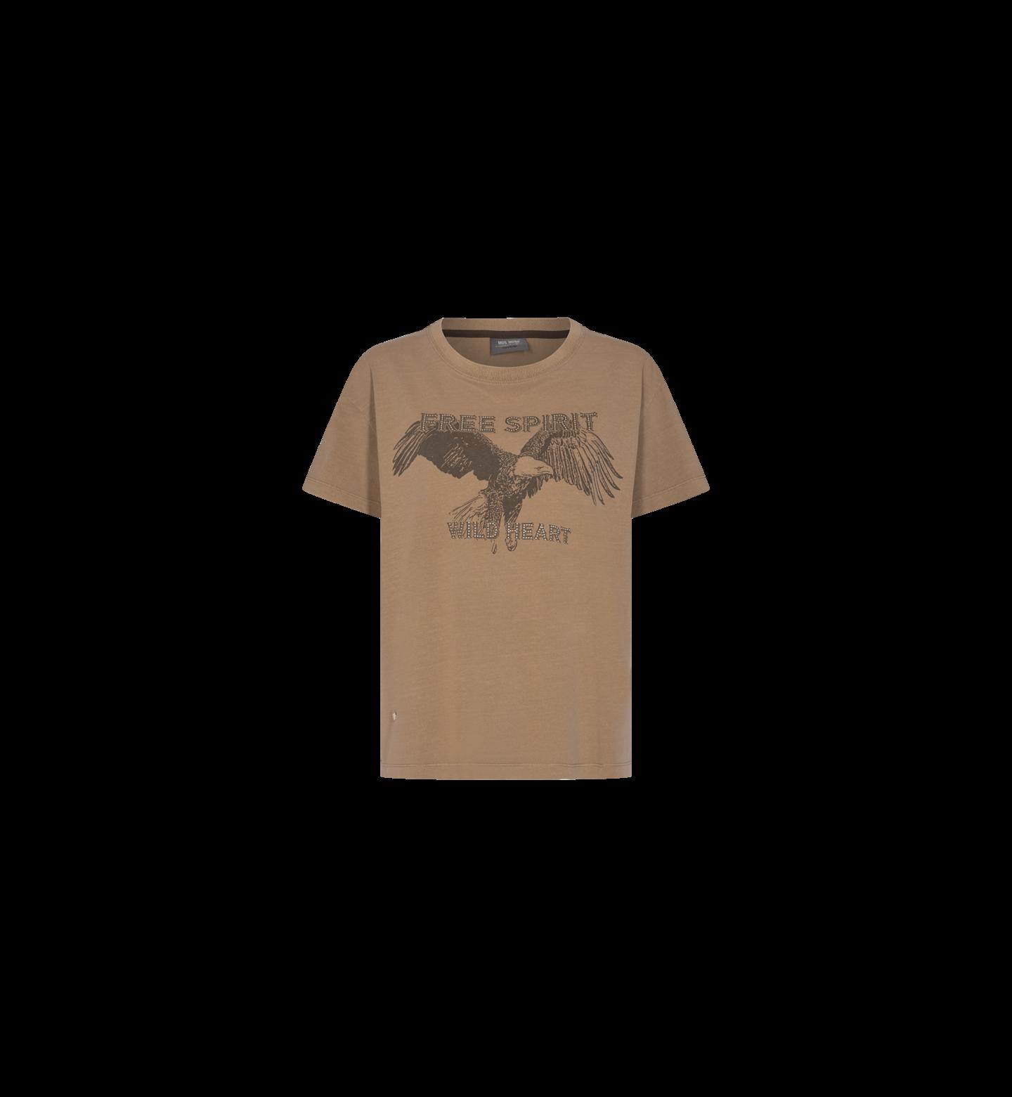 Bruin dames t-shirt Mos Mosh - Taimi 139310-667