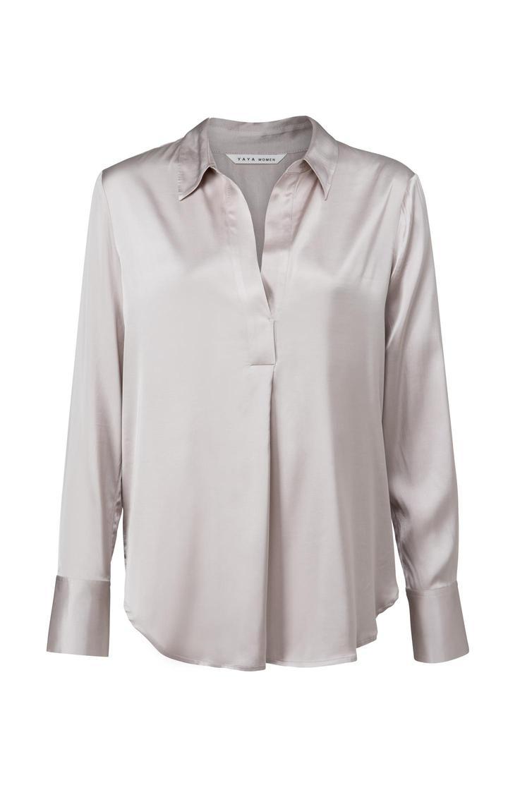 Zilveren dames blouse YAYA - 1901497-125 63915