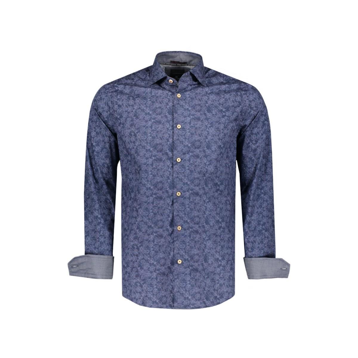 blauw heren overhemd Vanguard VSI66417-5883
