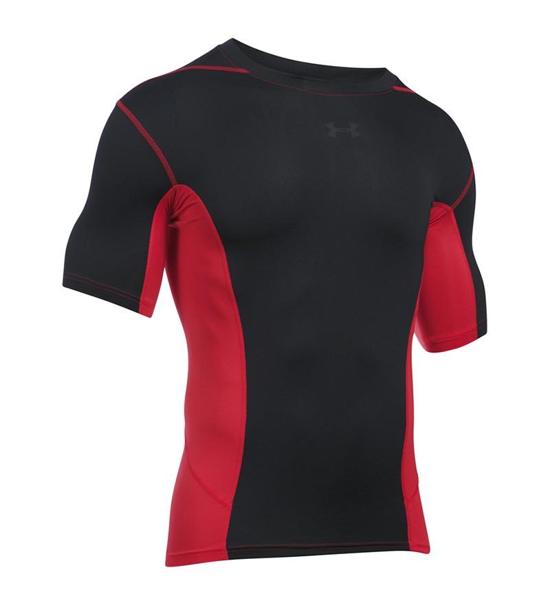 zwart rood trainings Tshirt Under Armour 1277176- 600