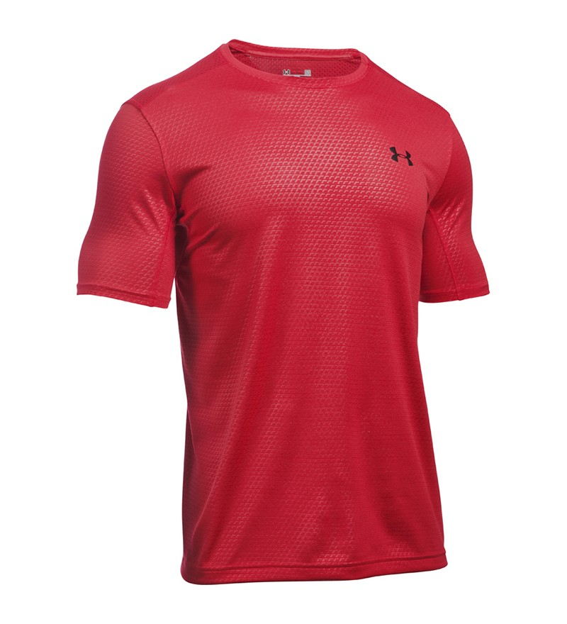 Rood heren trainings tshirt Under Armour 1281261-601
