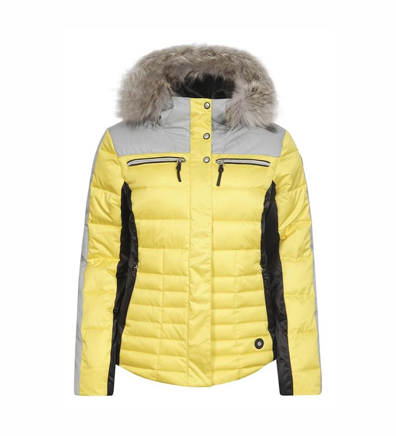 Gele dames jas Icepeak - Cathy