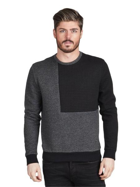 geblokte zwart grijze sweater Pearly King Jovial charcoal