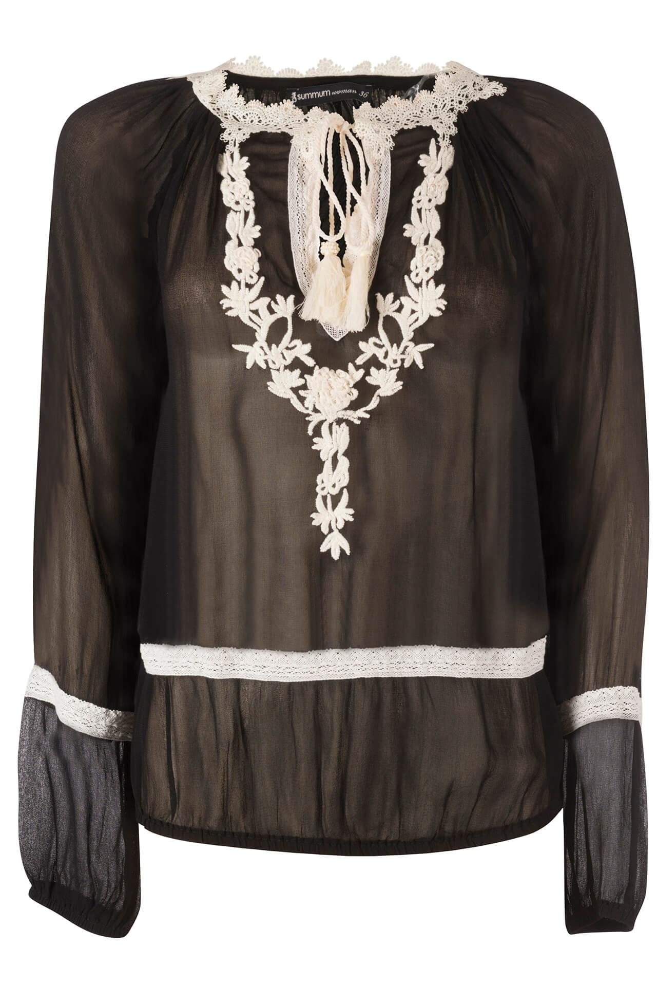 Zwarte blouse Summum 2S1771-1065 990