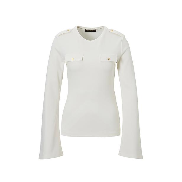 Creme witte dames top met flair mouw Supertrash - Taith
