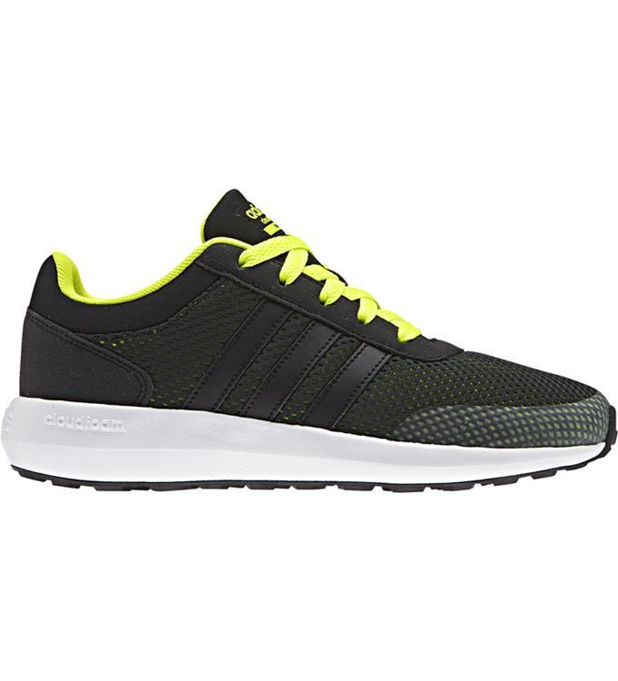 Zwart/Gele jongens sneaker Adidas Cloudoam Race - AW4043