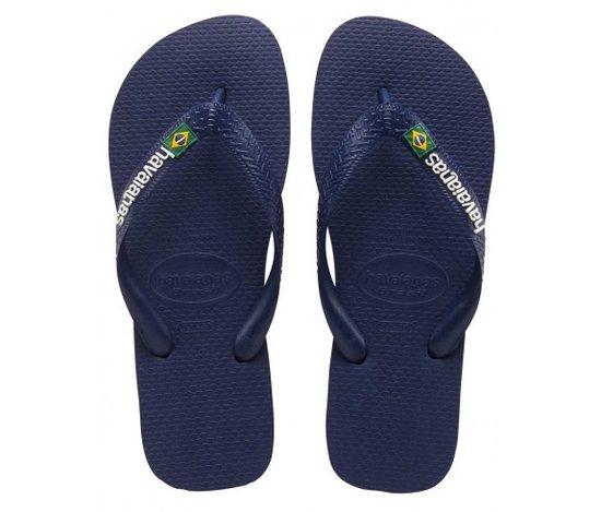 Blauwe jongens slippers Havaianas - Brasil Logo Navy Blue