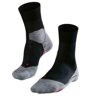 Zwart/Grijze heren running sokken Falke - Cushion Long 16714 RU4 3010