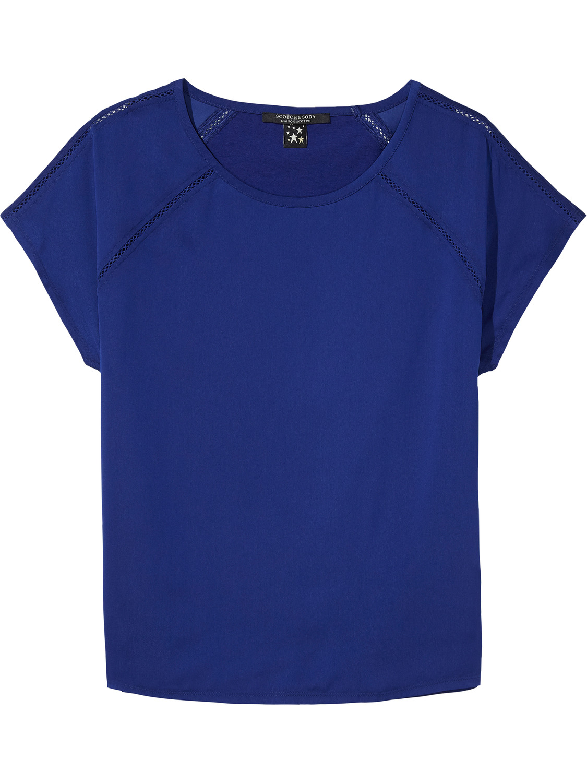 Blauwe dames top Maison Scotch 102139