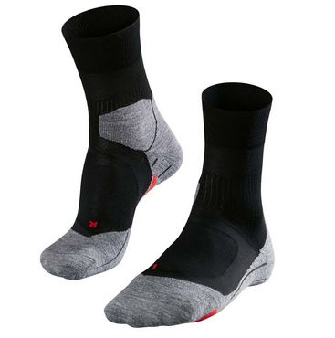 Zwart/Grijze dames running sokken Falke - Cushion Long 16715 RU4 3010