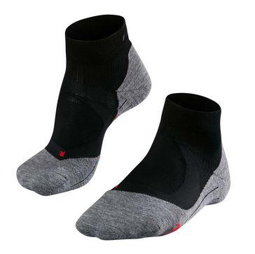 Zwart/Grijze heren running sokken Falke - Cushion Short 16716 RU4 3010